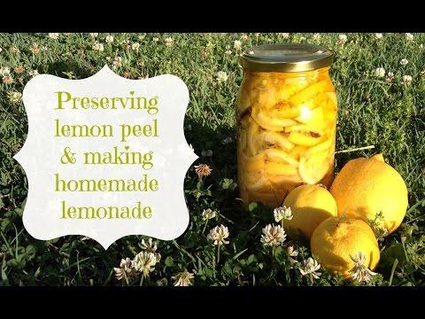 Preserving lemon peel and making homemade lemonade