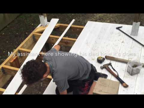 DIY Building a covered porch