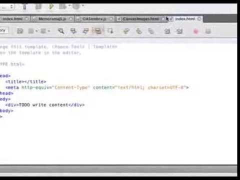 Create Project with HTML 5 and Netbeans