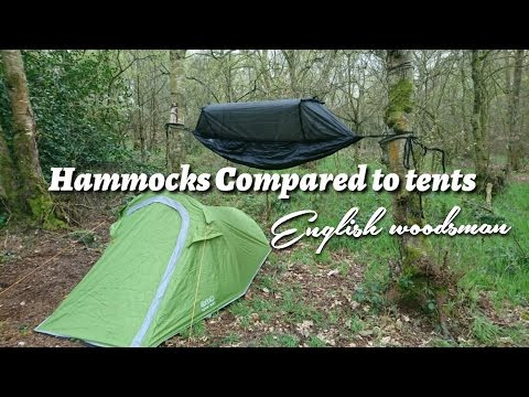 Hammocks vs tent camping (( pros and cons comparing tents to hammocks ))