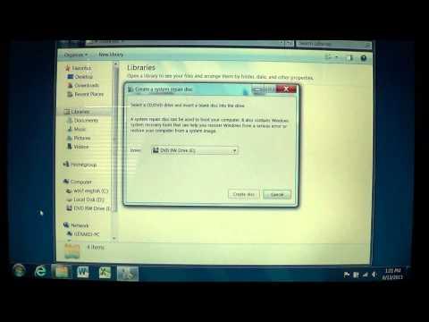Windows 7   Create a system repair disc