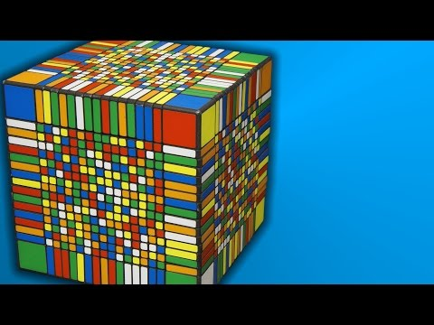 This Guy Spends 7 And A Half Hours To Solve The World's Largest Rubik's Cube
