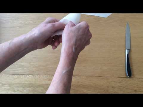 How to Make a Disposable Royal Icing Piping Pastry Bag from Grease Proof Paper Tutorial