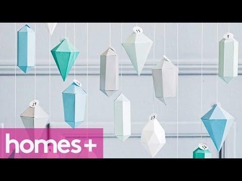 DIY IDEA: Advent Christmas gem ornaments - homes+