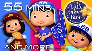 Take Me Out To The Ball Game | Plus Lots More Nursery Rhymes | 55 Mins Compilation by LittleBabyBum!