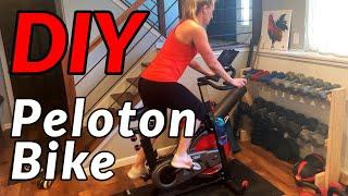 $400 DIY PELOTON BIKE // How To using Sunny Bike, Wahoo Cadence Sensor, and the Peloton App