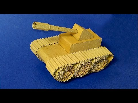 Easy Paper Tank. How to make TANK with CARDBOARD!
