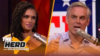 Colin Cowherd and Joy Taylor play word association with NFL team logos | THE HERD