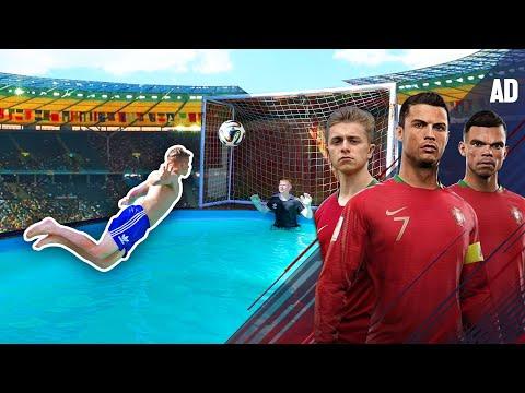 Van Persie DIVING HEADER Challenge   Ronaldo's Road To The World Cup - EP. 4