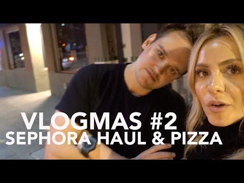 VLOGMAS #2 2017 - Sephora Haul & Pizza