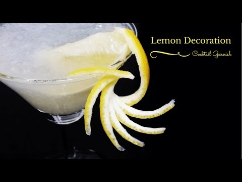 How to make Lemon Decoration | Cocktail Garnish 飾り切りレモンでカクテルを魅力的に
