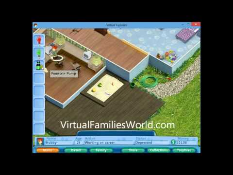 How To Fix the Birdbath In Virtual Families - Cheats and Tips
