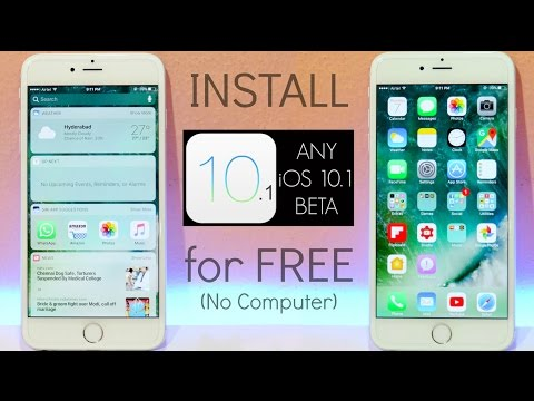 How to Install Any iOS 10 Beta for FREE 10.x.x (No Computer & No Dev Account ) - iPhone, iPad, iPod!