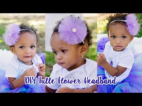 How to Make a Tulle Flower Headband
