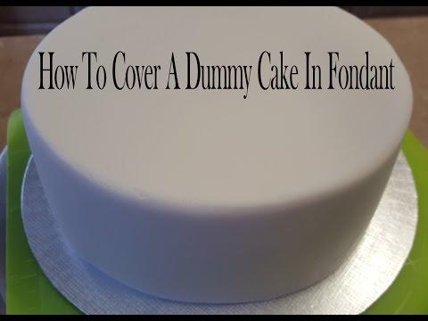 Covering A Dummy Cake, Or Cake Dummy In Fondant. polystyrene cake