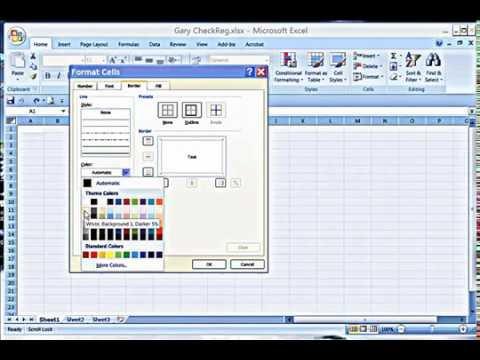 Grey Row Format in Excel