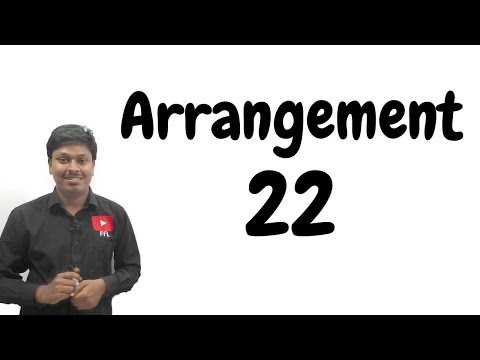 ARRANGEMENT _ #22 ( For all BANK EXAM)