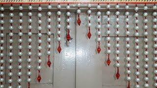 Superbe PEARL BEADED TORAN | DIY BEAUTIFUL DOOR HANGING TORAN MAKING