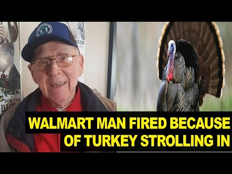 88-Year-old Walmart Greeter FIRED Because Wild Turkey Walked Into Store