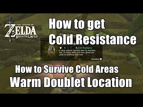 Zelda Breath of the Wild Warm Doublet Location - How to Survive Cold Areas (Cold Resistance)
