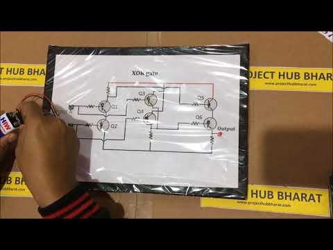 XOR Gate Using Transistors (Cardboard)