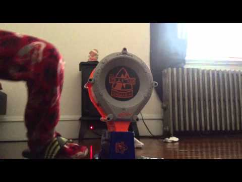 Nerf Rampage Mod Shooting Real Golden Fire Bullets