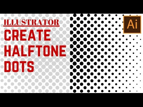 Create a halftone dot pattern in Illustrator - turn a gradient filled shape into a halftone