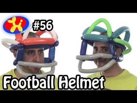 Football Helmet - Balloon Animal Lessons #56