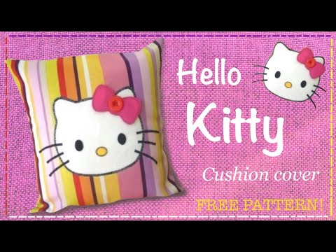 Hello Kitty cushion cover tutorial FREE PATTERN with Lisa Pay