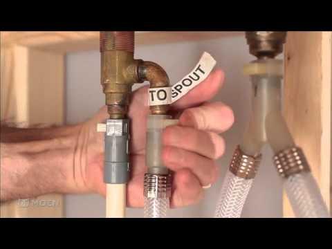 Installing Moen's 3-Hole Adjustable Roman tub valve featuring Dura-Grip™