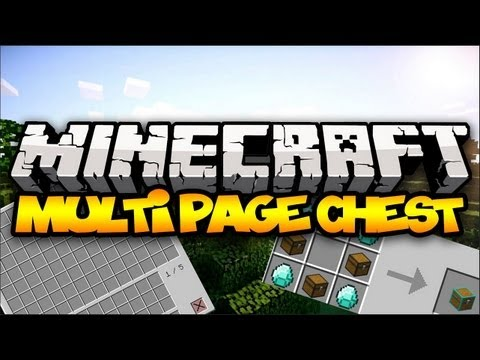 Minecraft: MULTI PAGE CHEST!   Mod Showcase