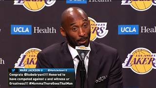 """Kobe Bryant curses and says """"WTF"""" during live Press Conference (Jersey Retirement)"""