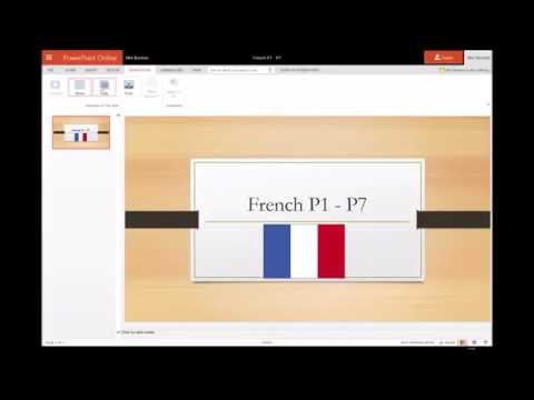 Tutorial on how to create a shared online PowerPoint using Office365
