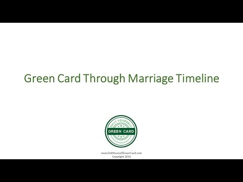 Green Card Through Marriage Timeline - Marriage Green Card Timeline