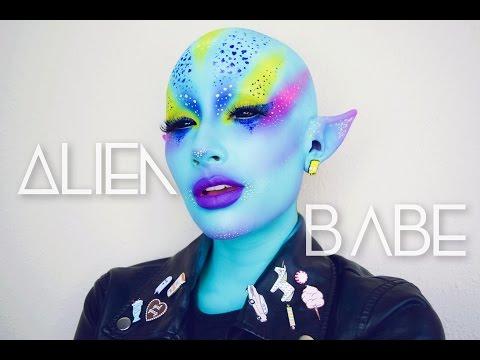 Punk Alien Babe Makeup Tutorial