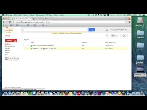 How to upload a movie to GoogleDrive