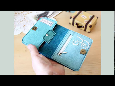 Shine Sewing Tutorial DIY Felt Wallet