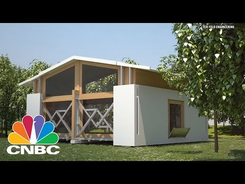Self-Building House Goes Viral | CNBC
