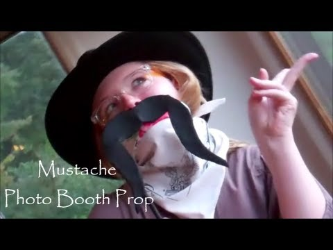 A Mustache Photo Booth Prop