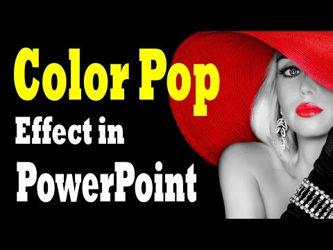 Color Pop Photo Effect in PowerPoint - Photo Design Tutorial and Download