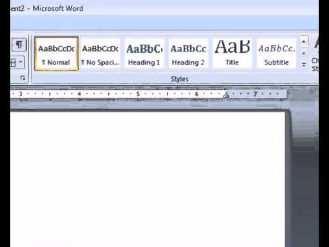 Easy Tutorial - Creating a Table of Contents in MS Word