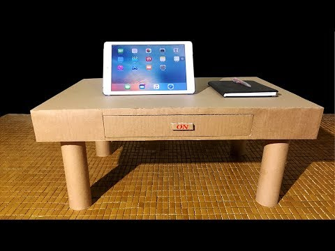 How To Make Desk Organizer Or Drawers From Cardboard