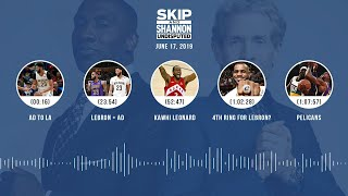 UNDISPUTED Audio Podcast (6.17.19) with Skip Bayless, Shannon Sharpe & Jenny Taft   UNDISPUTED