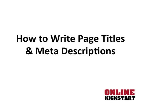 How to Write a Page Title and Meta Description