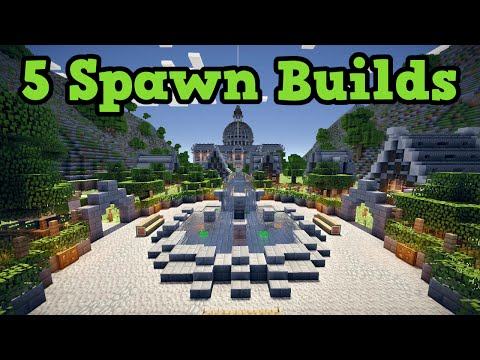 Minecraft Xbox 360 / PS3 5 Builds For Spawn Area