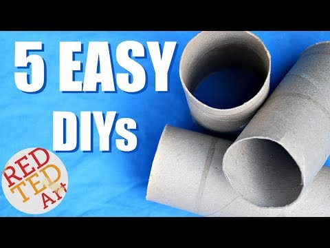 5 DIY Creative Ideas with Toilet Paper Roll - Life Hacks - The Best Out Of Waste DIYs