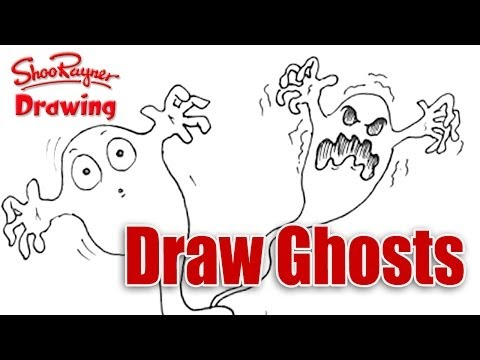 How to draw ghosts! - Easy spoken tutorial