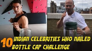 10 Indian Celebrities who nailed Bottle Cap Challenge | Simbly Chumma