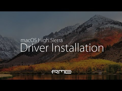 macOS High Sierra Driver Installation for RME Audio Interfaces