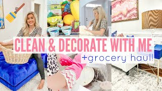 ✨2020 RELAXING DECORATE & CLEAN WITH ME w. GORCERY HAUL | CLEANING MOTIVATION | Love Meg